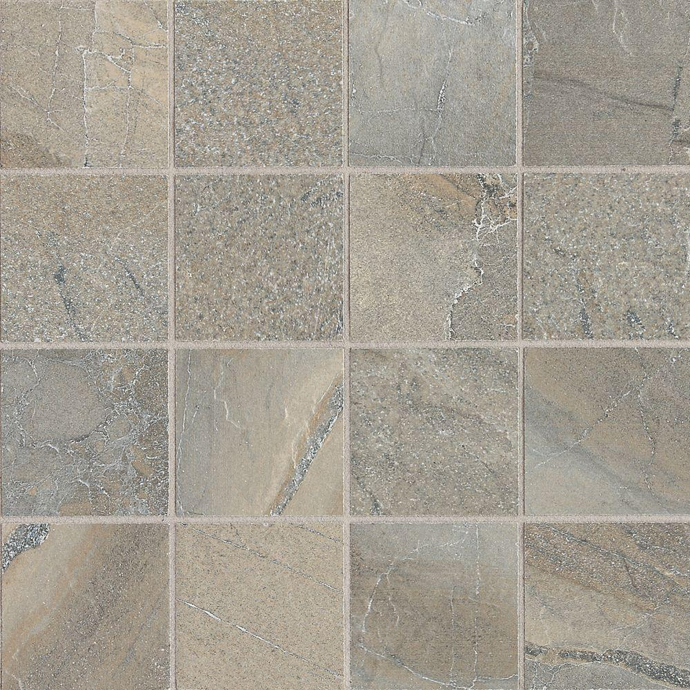 Daltile Ayers Rock Majestic Mound 13 in. x 13 in. x 10 mm Glazed Porcelain Mosaic Floor and Wall Tile (1.2 sq. ft. / piece)