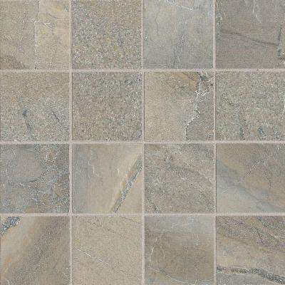 Ayers Rock Majestic Mound 13 in. x 13 in. x 10 mm Glazed Porcelain Mosaic Floor and Wall Tile
