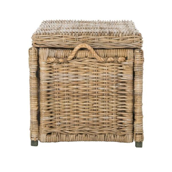 Happimess Jacob 30 In Natural Wicker Storage Trunk Hpm9003b The