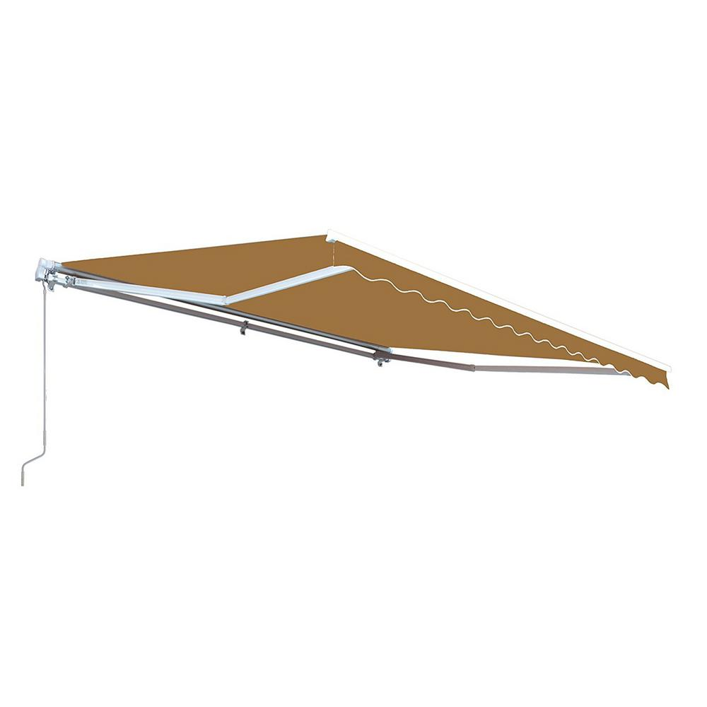ALEKO 12 ft  Manual Patio Retractable Awning (120 in  Projection) in Sand