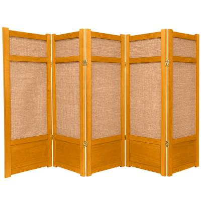 4 ft. Honey 5-Panel Room Divider