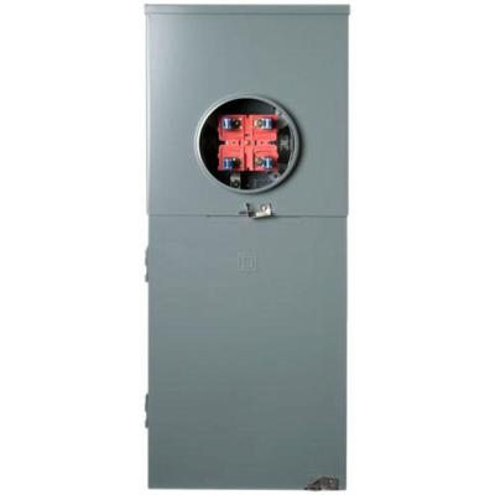 Homeline 200 Amp 8-Space 16-Circuit Outdoor Ringless Overhead/Underground Main Breaker CSED