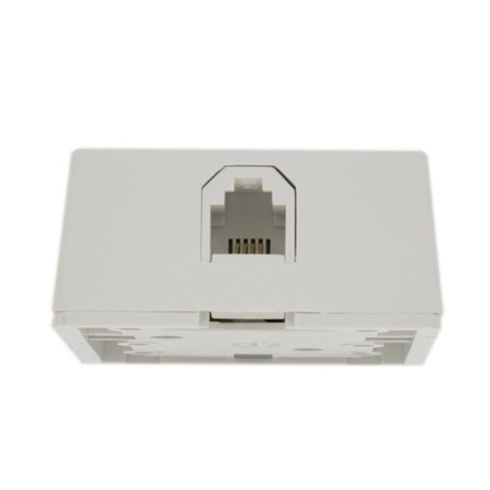 Cmple Phone Surface Mount Box 6P6C-1port-WHITE