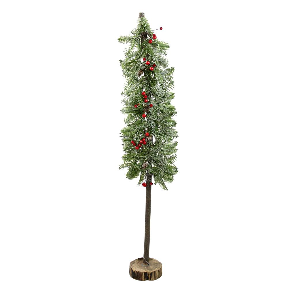 Swell Northlight 34 In Glittered Country Rustic Artificial Alpine Christmas Tree With Holly Berries Table Top Decoration Home Interior And Landscaping Ologienasavecom