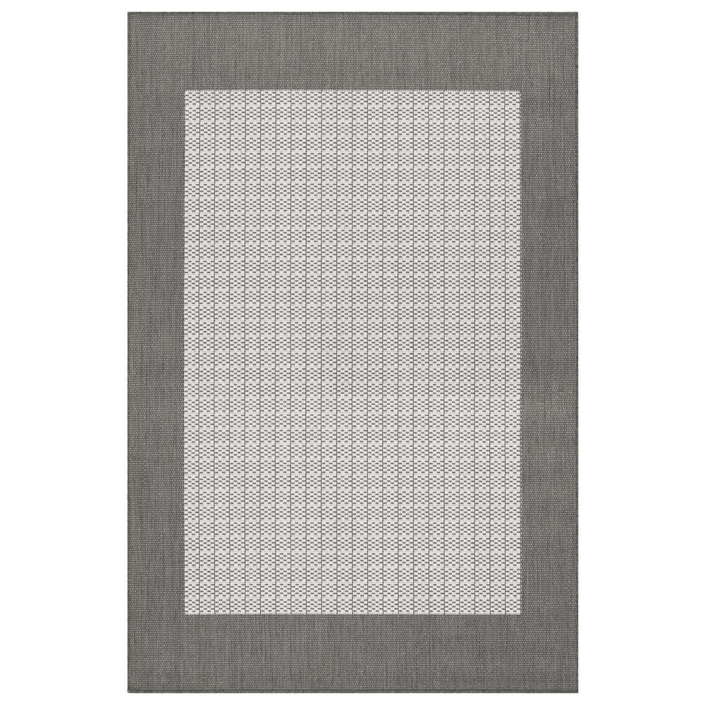 Recife Checkered Field Grey-White 6 ft. x 9 ft. Indoor/Outdoor Area