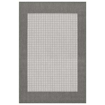 Recife Checkered Field Grey-White 9 ft. x 13 ft. Indoor/Outdoor Area Rug