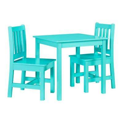 Keena Teal Kid Table and Two Chairs