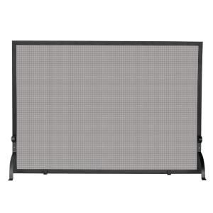 UniFlame Olde World Iron Medium Single-Panel Fireplace Screen by UniFlame
