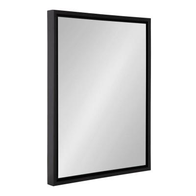 Medium Rectangle Black Modern Mirror (24 in. H x 18 in. W)
