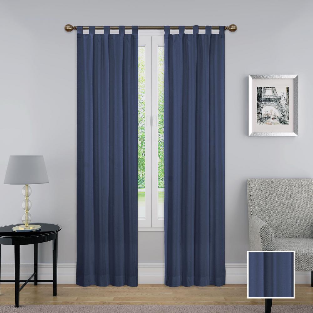 Montana Window Curtain Panel Pair in Indigo - 60 in. W x 95 in. L