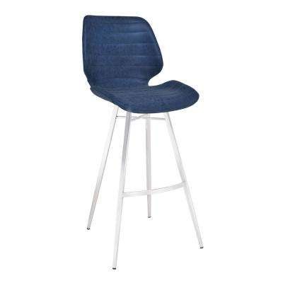 Victus Blue Bar Stool Blue Leather Bar Stools 650