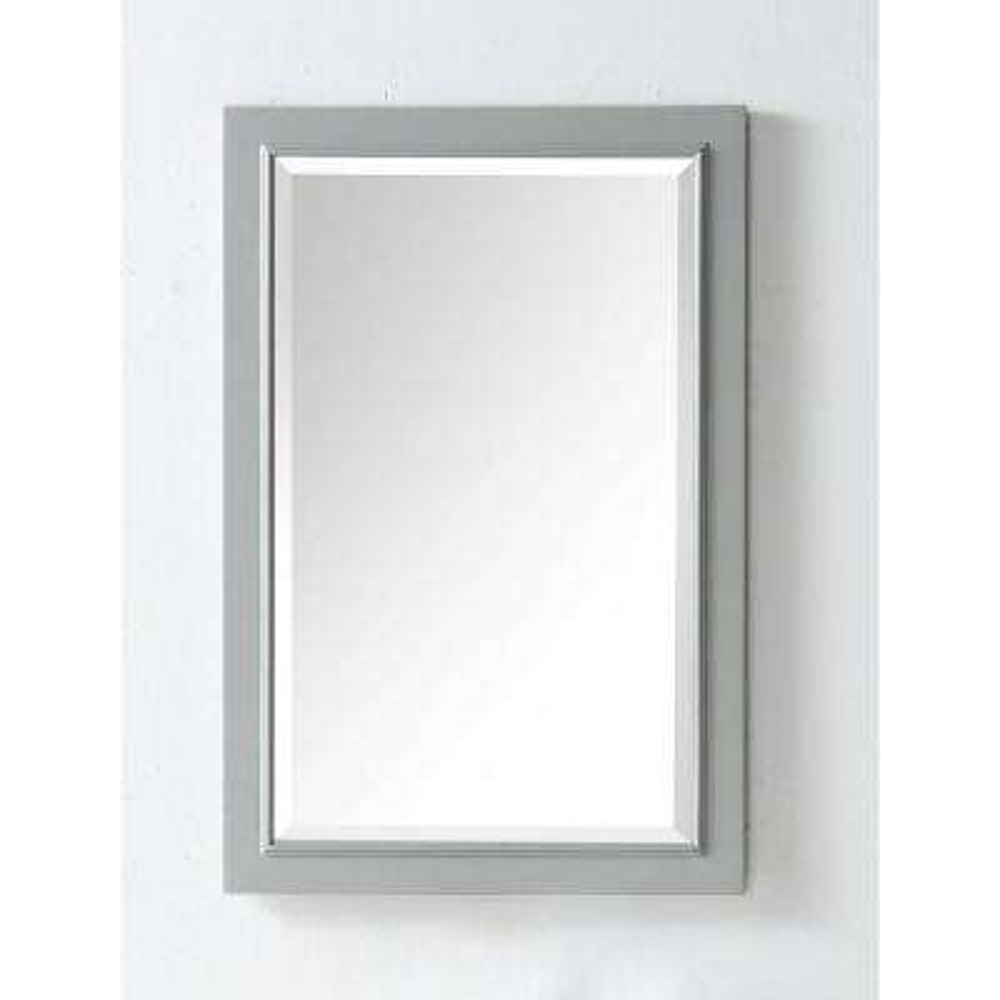 30 in. x 20 in. Framed Wall Mirror in Cool Gray