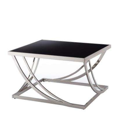 Melrose Black and Chrome Coffee Table