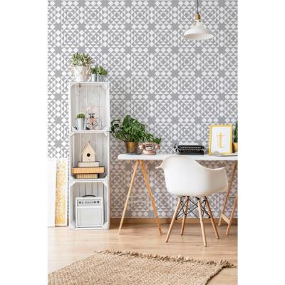 Art in Chaos Collection Conundrum in Graphite Premium Matte Wallpaper