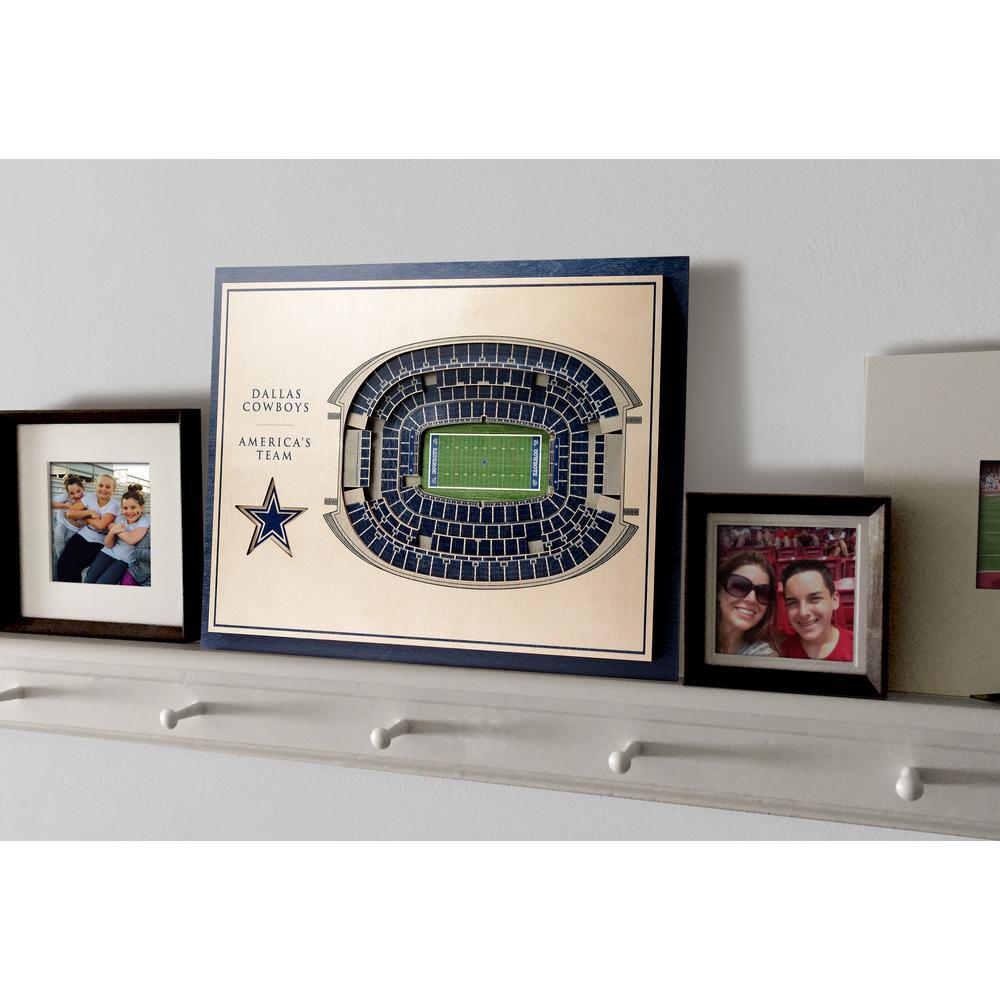 Youthefan Nfl Dallas Cowboys 5 Layer Stadiumviews 3d Wooden