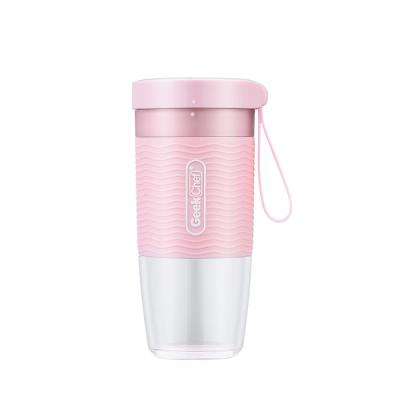10 oz. Single Speed Pink Portable Personal Blender with USB Rechargeable