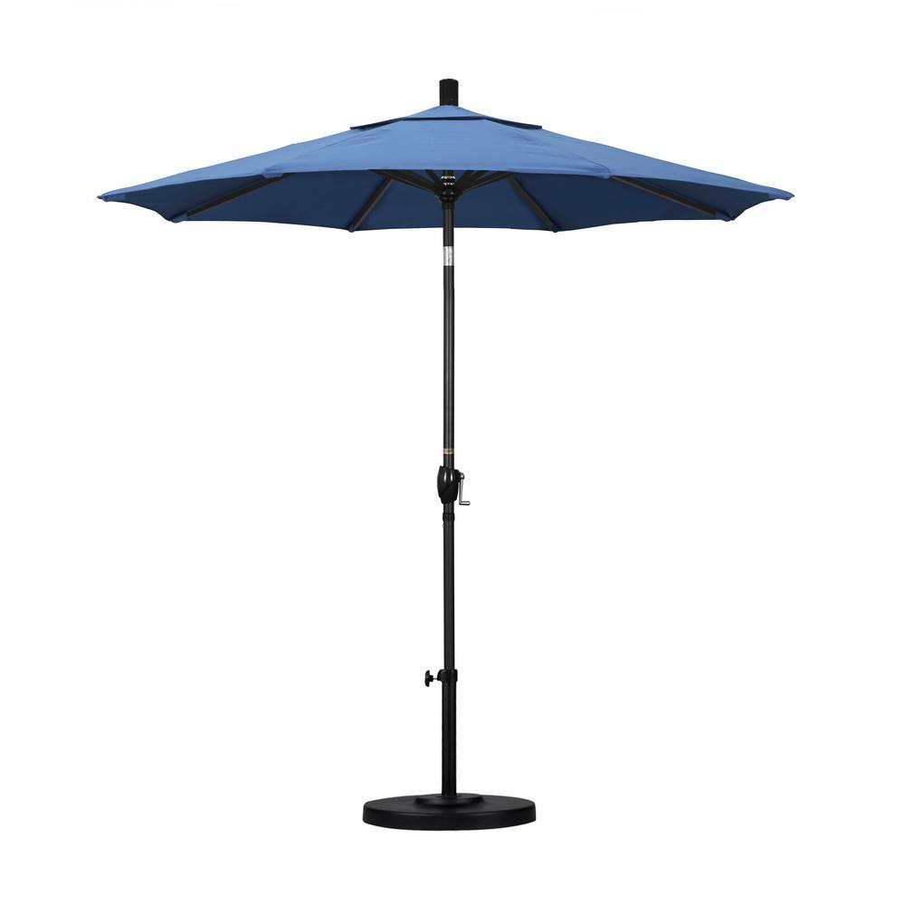 7-1/2 ft. Fiberglass Push Tilt Patio Umbrella in Capri Pacifica