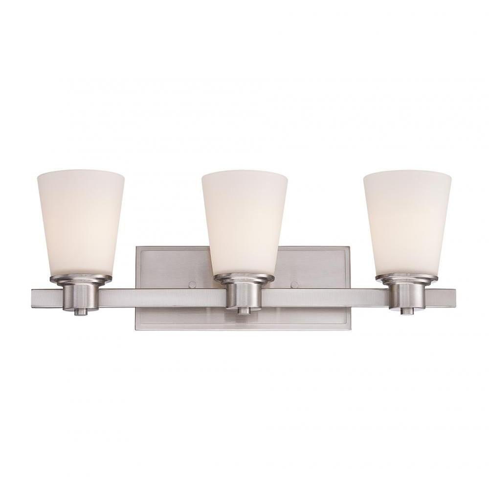 Helen 3-Light Satin Nickel Bath Vanity Light