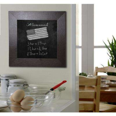 42 in. x 42 in. Wide Brown Leather Blackboard/Chalkboard