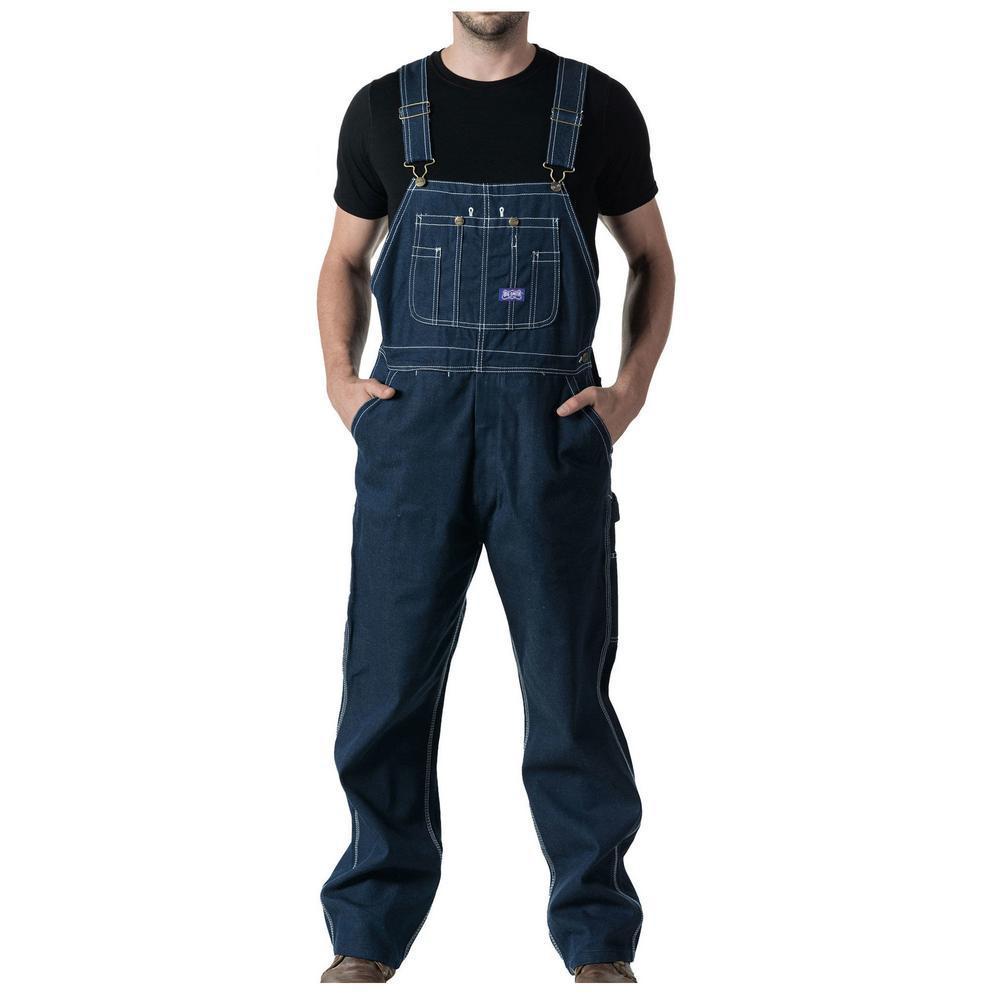 a957936acc8 Walls Men s Big Smith Rigid Denim Bib Overall - Unlined-94009DB9 32 ...