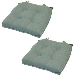 Spa Deluxe Tufted Outdoor Seat Cushion (2-Pack)