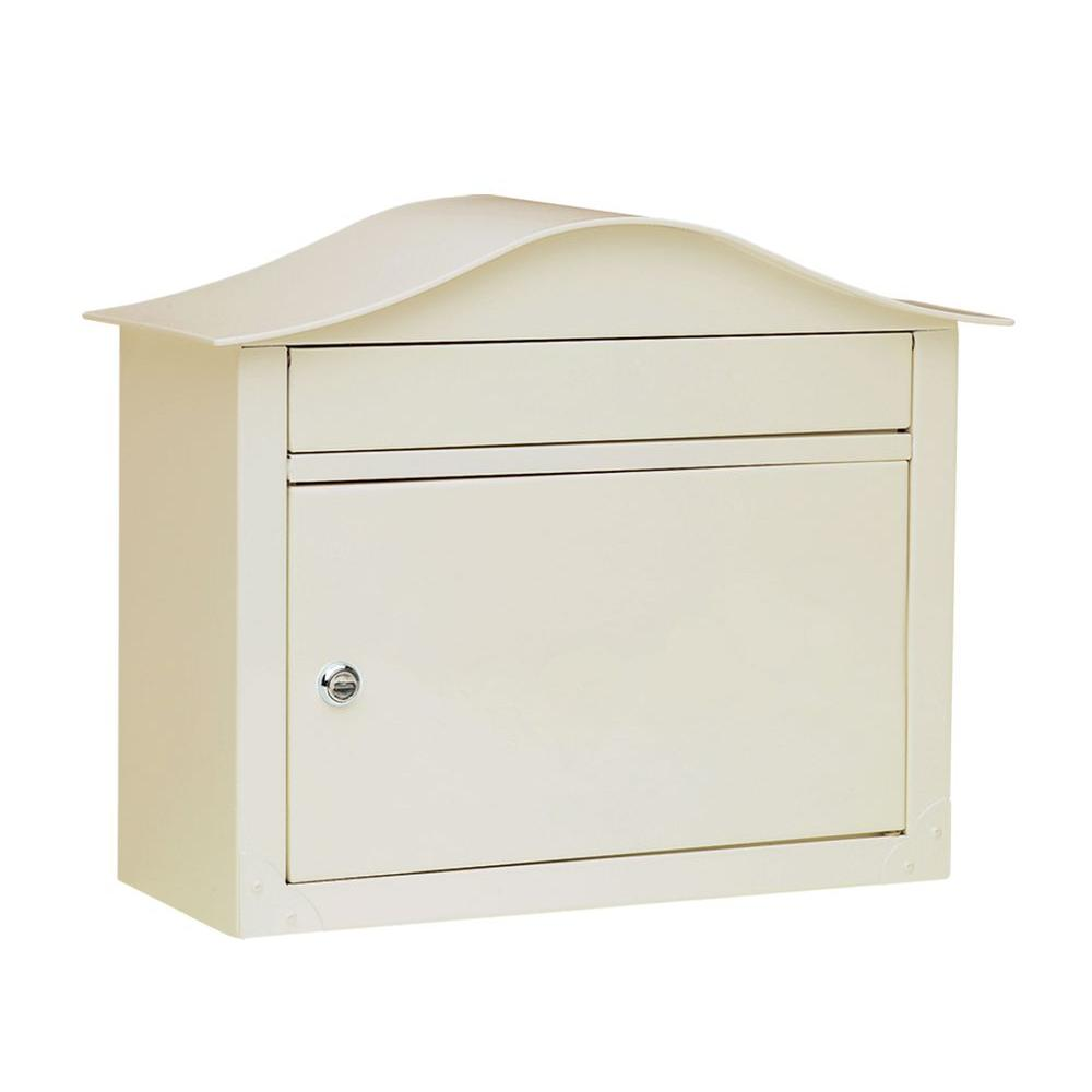 null Lunada Wall-Mount Mailbox in Sand-DISCONTINUED
