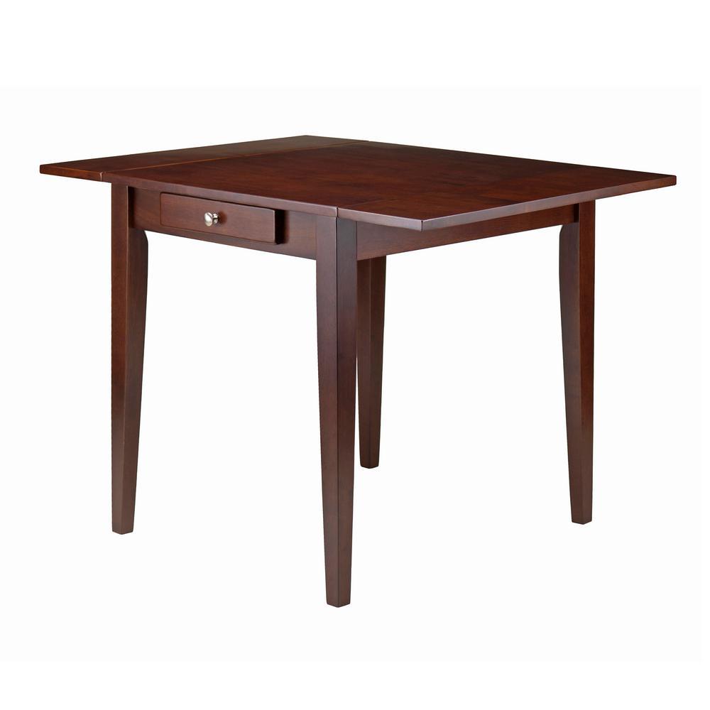 Winsome Wood Hamilton Walnut Double Drop Leaf Dining Table
