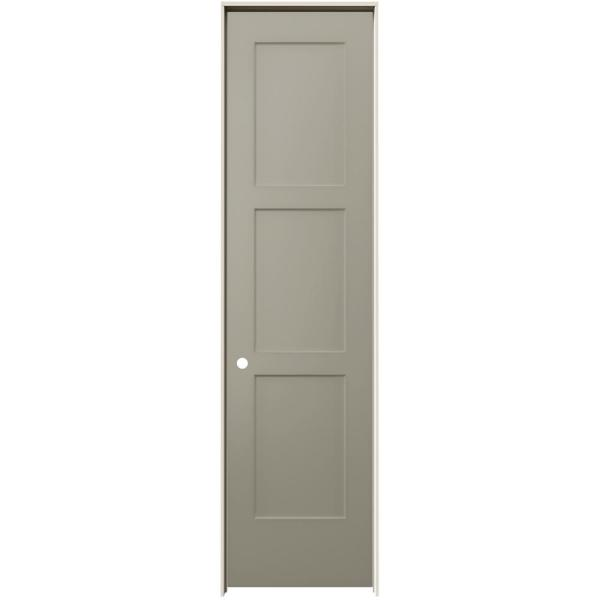 24 in. x 96 in. Birkdale Desert Sand Paint Right-Hand Smooth Solid Core Molded Composite Single Prehung Interior Door