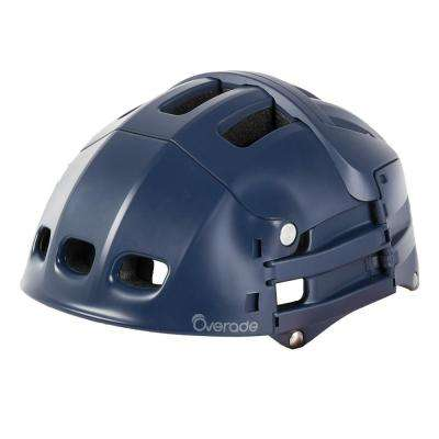 54 - 58 cm Plixi Foldable Bicycle Helmet in Navy Blue