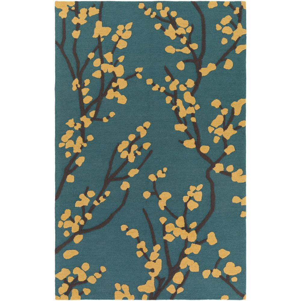 Marigold Caroline Teal 5 ft. x 7 ft. 6 in. Indoor