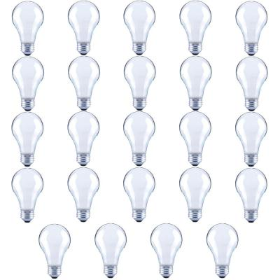 40-Watt Equivalent A19 Frosted Glass Vintage Decorative Edison Filament Dimmable LED Light Bulb Daylight (24-Pack)