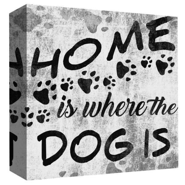 15 in  x 15 in  ''Home Is Where The Dog Is III'' By PTM Images Printed  Canvas Wall Art