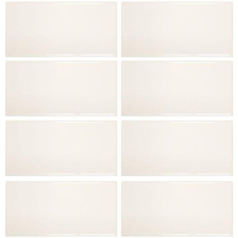 Jeffrey Court Royal Cream 3 in. x 6 in. Ceramic Wall Tile (8-Pack ...