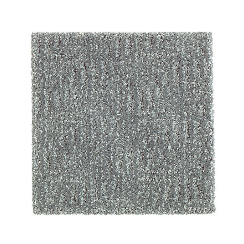 Carpet Sample - Scarlet - Color Tide Pool Pattern 8 in. x 8 in.