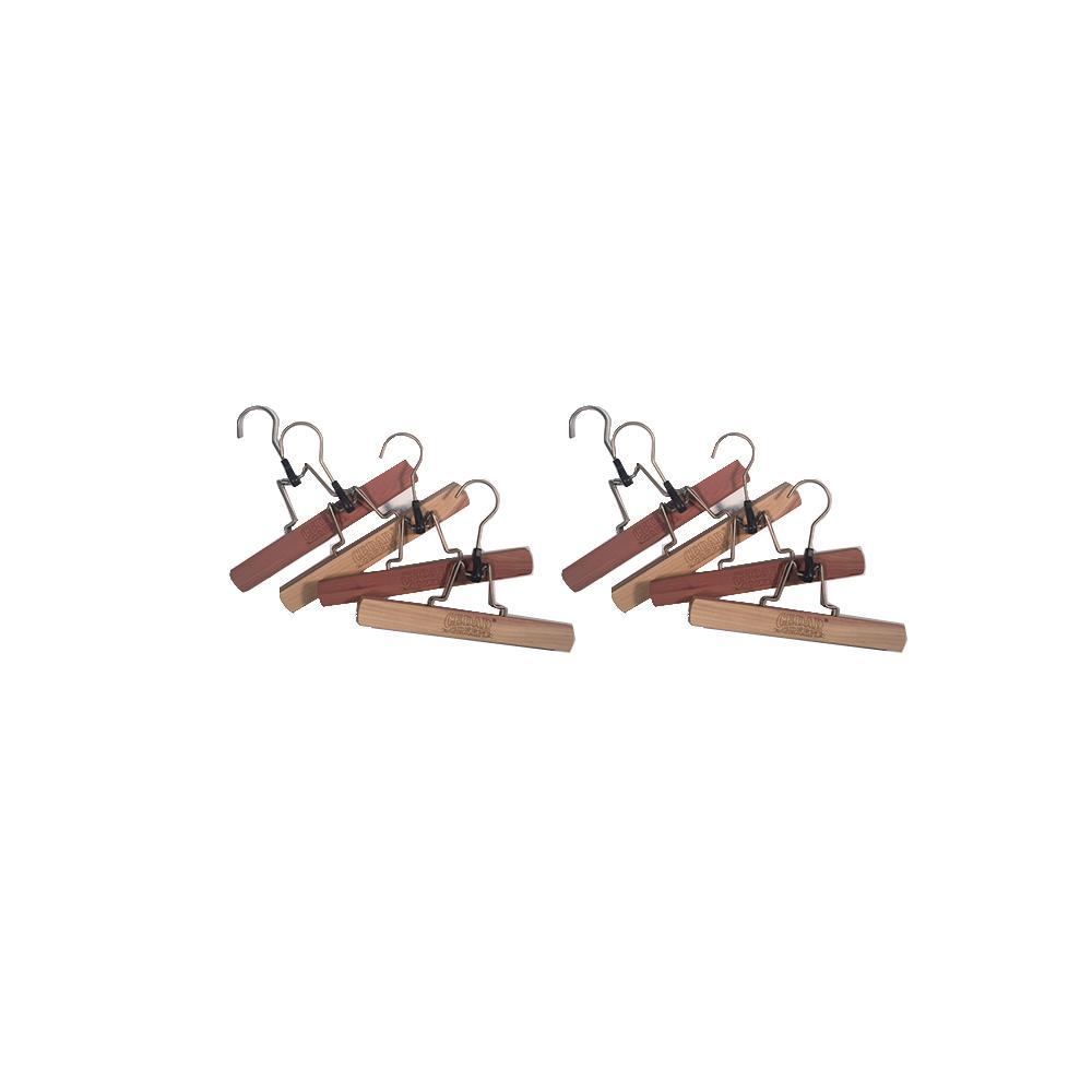 Aromatic Cedar Trouser Hangers (8-Pieces)