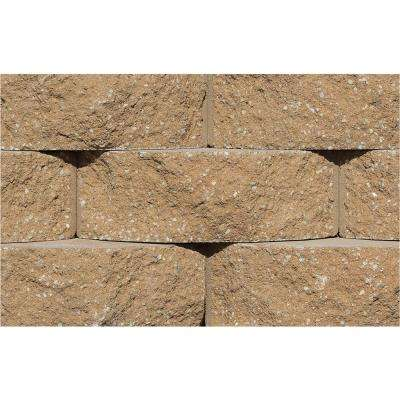 Cottage Stone 4 in. H x 12 in. W x 8.5 in. D Sandstone Concrete Garden Wall Block (96-Pieces/31.68 sq. ft./Pack)