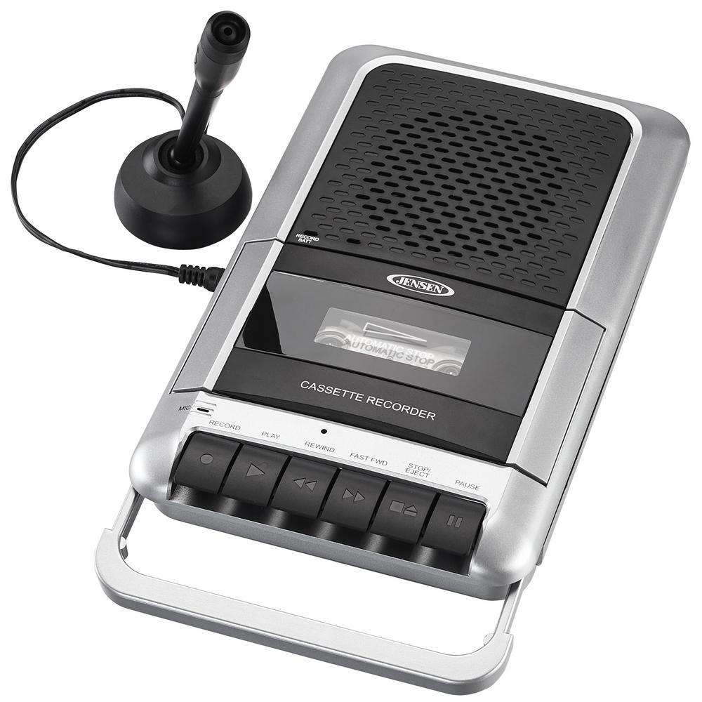 Jensen Cassette Player Recorder Mcr 100 The Home Depot