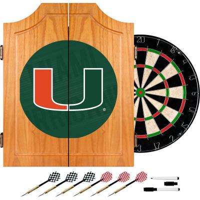 University of Miami Wordmark 20.5 in. Wood Dart Cabinet Set