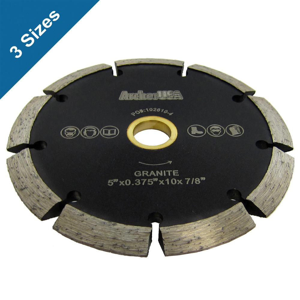 Archer USA 4.5 in. Crack Chaser Diamond Blade for Concrete Repair
