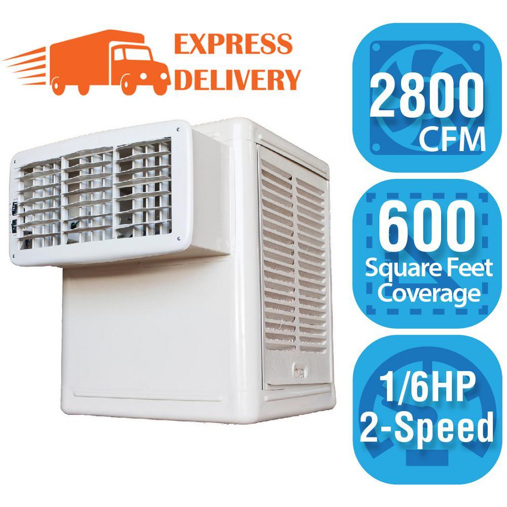 Hessaire 2 800 Cfm 115 Volt 2 Speed Front Discharge Window Evaporative Cooler Swamp Cooler For 600 Sq Ft With