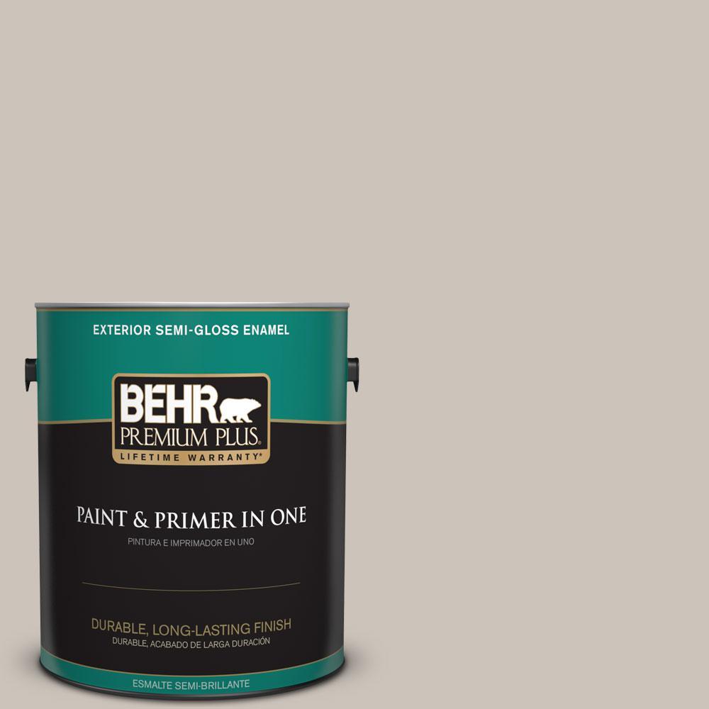 1-gal. #N200-2 Doeskin Gray Semi-Gloss Enamel Exterior Paint