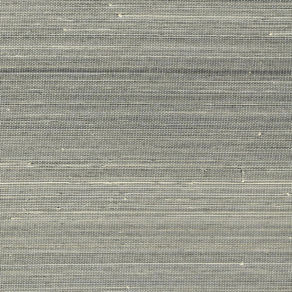 Kenneth James 72 sq. ft. Hexi Grey Grass Cloth Wallpaper 2732-80033