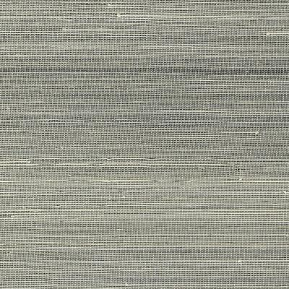 8 in. x 10 in. Hexi Grey Grass Cloth Wallpaper Sample