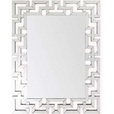 Risley 45 in. x 35.5 in. Modern Framed Mirror