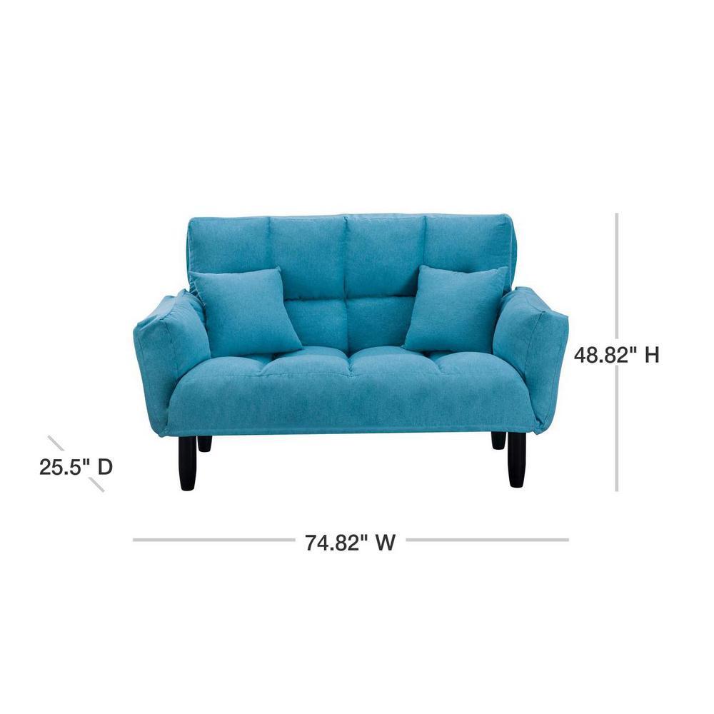 Blue Chic Loveseat Sleeper Sofa
