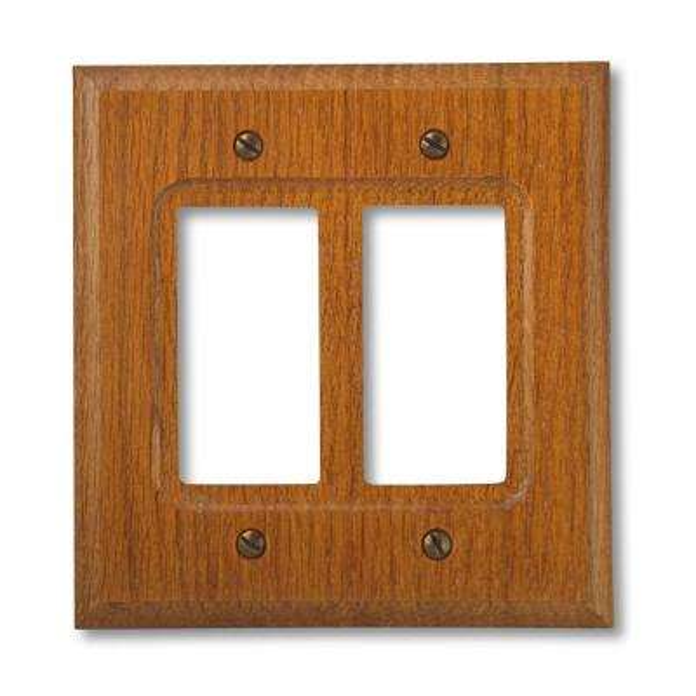 2 Decora Wall Plate - Red Oak