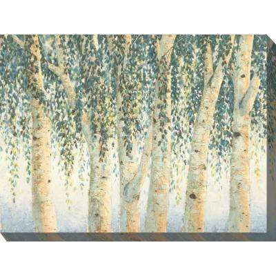 "40 in. x 30 in. ""Sweeping Branches"" Outdoor Canvas Wall Art"
