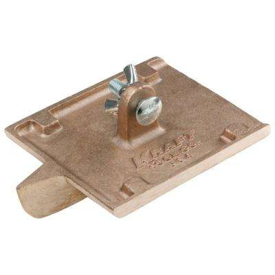 6 in. x 4-1/2 in. 1/4 R, 5/8 D Bronze Groover Without Handle