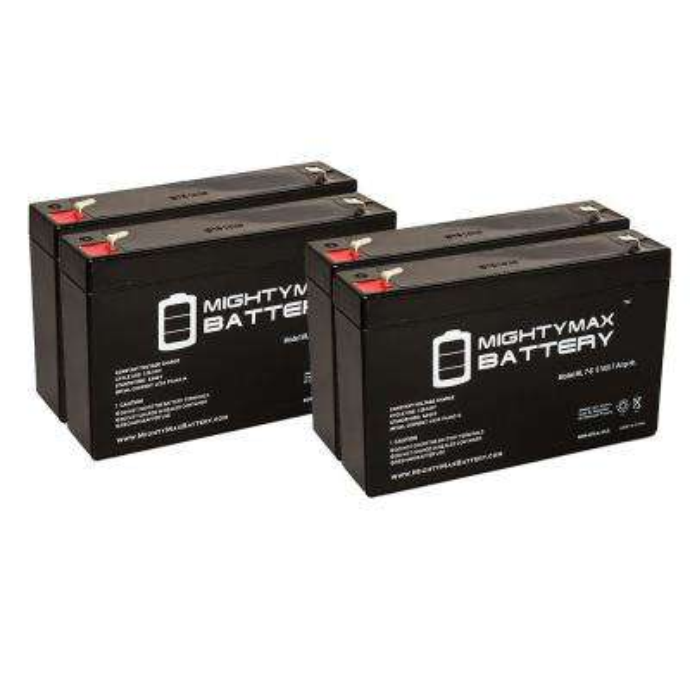 6-Volt 7 Ah Sealed Lead Acid Rechargeable Battery (4-Pack)