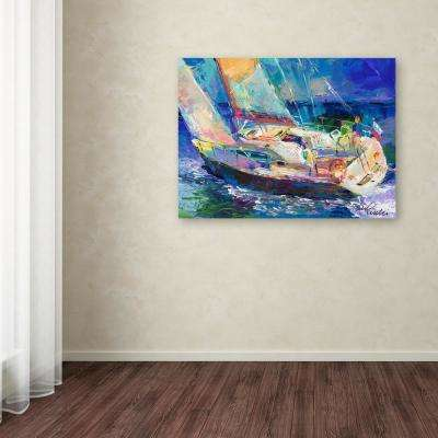"""35 in. x 47 in. """"Sailboat"""" by Richard Wallich Printed Canvas Wall Art"""
